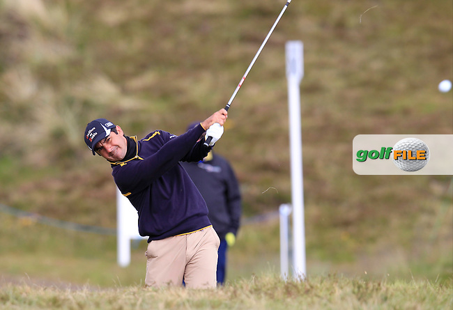 Felipe AGUILAR (CHI) plays his 2nd shot from the rough on the 9th hole during Saturday's Round 3 of the 2015 Dubai Duty Free Irish Open, Royal County Down Golf Club, Newcastle Co Down, Northern Ireland 5/30/2015<br /> Picture Eoin Clarke, www.golffile.ie