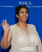 Aretha Franklin arrives for the 2016 White House Correspondents Association Annual Dinner at the Washington Hilton Hotel on Saturday, April 30, 2016.<br /> Credit: Ron Sachs / CNP<br /> (RESTRICTION: NO New York or New Jersey Newspapers or newspapers within a 75 mile radius of New York City)