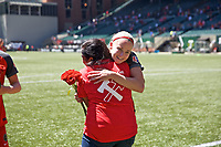 Portland, OR - Saturday August 05, 2017: Tyler Lussi, Girl of the Game during a regular season National Women's Soccer League (NWSL) match between the Portland Thorns FC and the Houston Dash at Providence Park.