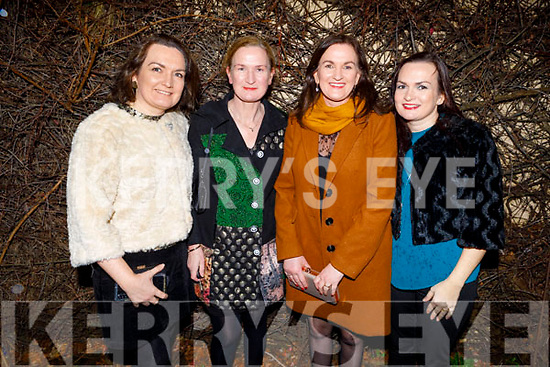 Fiona O'Connor, Elaine O'Connell, Susan O'Mahoney and Louise McMahon enjoying Women's Christmas in Cassidys on Saturday.