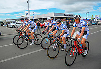 The Fagan Motors Cycling team. Stage Three of the 2018 NZ Cycle Classic UCI Oceania Tour (Masterton to Martinborough) in Wairarapa, New Zealand on Friday, 19 January 2018. Photo: Dave Lintott / lintottphoto.co.nz