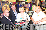 Mary Lynch, Causeway this weeks buyKerry Winner who choose Ryle,s Menswear to spend her 1000 euro peize from Left are Berndan Kennelly, Kerry's Eye, Micheal Moran, Ryle's Menswear, Mary Lynch, Kathleen O'Connor, Eileen Curtin and Jack Harrington, Clanmaurice Credit Union.