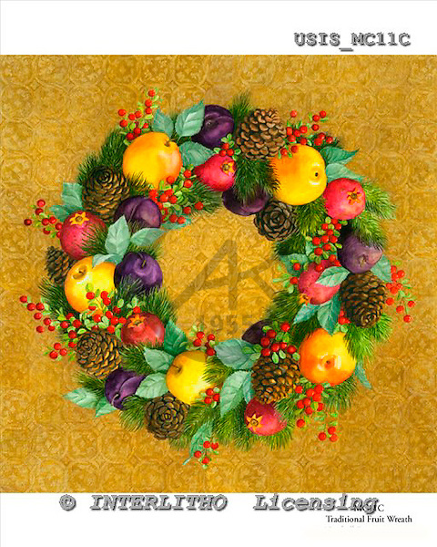 Ingrid, MODERN, MODERNO, paintings+++++,USISMC11C,#N#,fruit wreath ,everyday