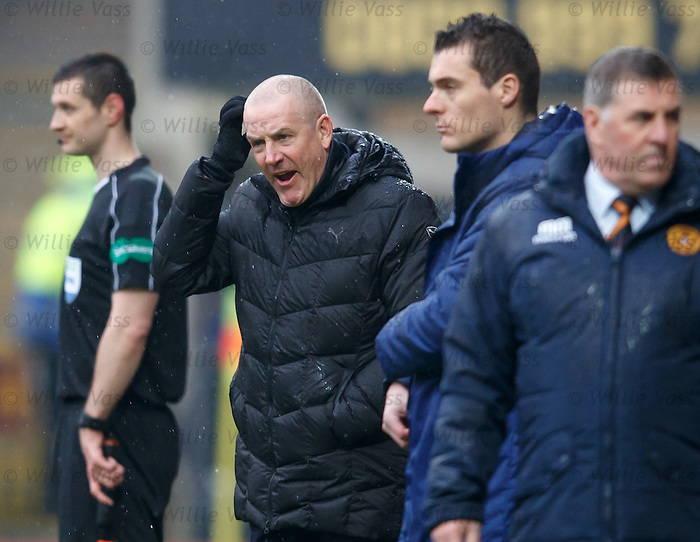 Mark Warburton after Rangers are reduced to 10 men