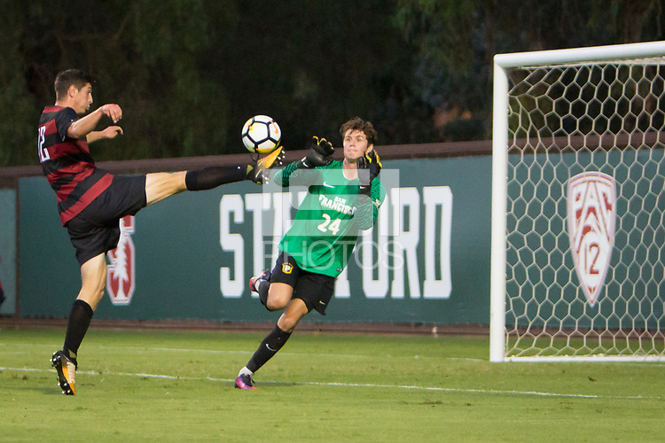STANFORD, CA - September 15, 2017: Drew Skundrich at Cagan Stadium. The Stanford Cardinal defeated the University of San Francisco 1-0.