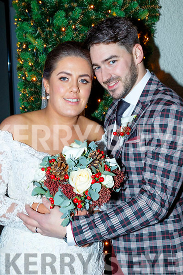 Sarah Nagle, Mastergeeha, Kilcummin, daughter of Noreen&Patrick and Chris Egan, Coolick, Kilcummin, son of Bridget&Johm who married last Friday Dec 6 in Our Lady of Lourdes church Kilcummin with Fr Eamon Mulvahill officiating. Batsman was Mark Egan, groomsmen were Darragh Egan, Paul Moynihan, Robert Casey and Aiden Kerins. 1st bridesmaid was Ciara Nagle, others were Sinead Nagle,Rebecca Nagle Mackey, Elain Kerins and Tara Collins. Flower girls were Mai&Olivia Bruton. Pageboys were Jack&Oisín Egan. The reception was in the Ballygarry House Hotel, Tralee and the couple will reside in Kilcummin.