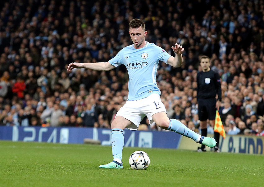 Manchester City's Aymeric Laporte<br /> <br /> Photographer Rich Linley/CameraSport<br /> <br /> UEFA Champions League Quarter-Final Second Leg - Manchester City v Liverpool - Tuesday 10th April 2018 - The Etihad - Manchester<br />  <br /> World Copyright &copy; 2017 CameraSport. All rights reserved. 43 Linden Ave. Countesthorpe. Leicester. England. LE8 5PG - Tel: +44 (0) 116 277 4147 - admin@camerasport.com - www.camerasport.com