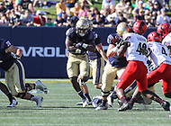 Annapolis, MD - September 23, 2017: Navy Midshipmen fullback Chris High (33) in action during the game between Cincinnati and Navy at  Navy-Marine Corps Memorial Stadium in Annapolis, MD.   (Photo by Elliott Brown/Media Images International)