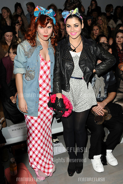 Paloma Faith and Marina Diamandis at the Ashish show as part of London Fashion Week, Somerset House, London. 22/02/2011  Picture by: Steve Vas /Featureflash