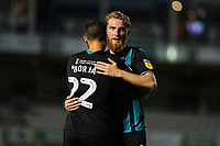 Borja and Oli McBurnie of Swansea City applauds the fans at the final whistle during the pre-season friendly match between Bristol Rovers and Swansea City at The Memorial Stadium in Bristol, England, UK. Tuesday, 23 July 2019