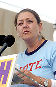 """Actress Camryn Manheim speaks at the """"March for Women's Lives"""" in Washington, DC on April 25, 2004..Credit: Ron Sachs / CNP"""