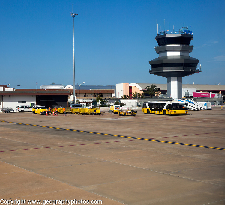 Airport control tower and terminal building, Faro, Algarve, Portugal