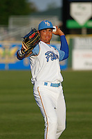 Myrtle Beach Pelicans outfielder Jacob Hannemann (15)  before a game against the Wilmington Blue Rocks at Ticketreturn.com Field at Pelicans Ballpark on April 09, 2015 in Myrtle Beach, South Carolina. Myrtle Beach defeated Wilmington 9-1. (Robert Gurganus/Four Seam Images)