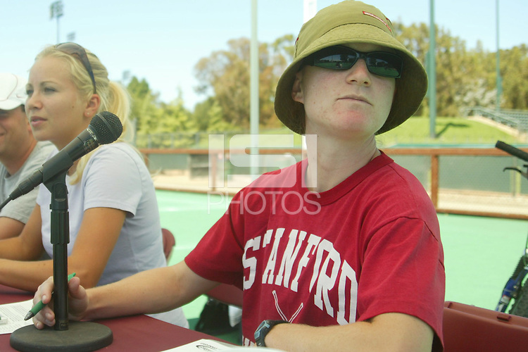 30 August 2005: Stanford field hockey SID Jeane Goff during  Stanfords' 5-1 loss to Delaware at the Varsity Turf Field in Stanford, CA.