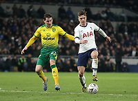 Tottenham Hotspur's Giovani Lo Celso and Norwich City's Kenny McLean<br /> <br /> Photographer Rob Newell/CameraSport<br /> <br /> The Emirates FA Cup Fifth Round - Tottenham Hotspur v Norwich City - Wednesday 4th March 2020 - Tottenham Hotspur Stadium - London<br />  <br /> World Copyright © 2020 CameraSport. All rights reserved. 43 Linden Ave. Countesthorpe. Leicester. England. LE8 5PG - Tel: +44 (0) 116 277 4147 - admin@camerasport.com - www.camerasport.com