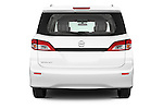 Straight rear view of a 2015 Nissan Quest s 5 Door Mini Van stock images