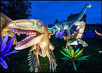 BNPS.co.uk (01202 558833)<br /> Pic: PhilYeomans/BNPS<br /> <br /> Jurassic Lark - winter wonderland...<br /> <br /> Jurassic Lark - Huge Dino's, an Egyptian pyramid, medieval knights, coral reef's and even a huge serpent are to be found at the stunning 'Festival of Light' at Longleat House this Xmas.<br /> <br /> The English country estate is transformed with 800 illuminated lanterns to take visitors on a magical journey around the world and under the sea.<br /> <br /> Staff at the popular park attraction say this is their most ambitious event yet, with a team of highly-skilled Chinese artists spending more than 7,000 hours to complete the different stories for A Fantastic Voyage.<br /> <br /> The displays have used more than 25 miles of silk and LED lighting strips, as well as more than 60,000 light bulbs.