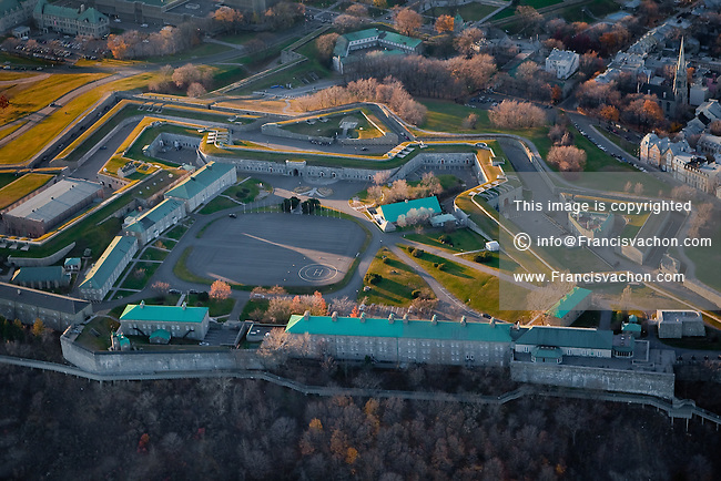 The Citadelle de Quebec is pictured in this aerial photo November 11, 2009.
