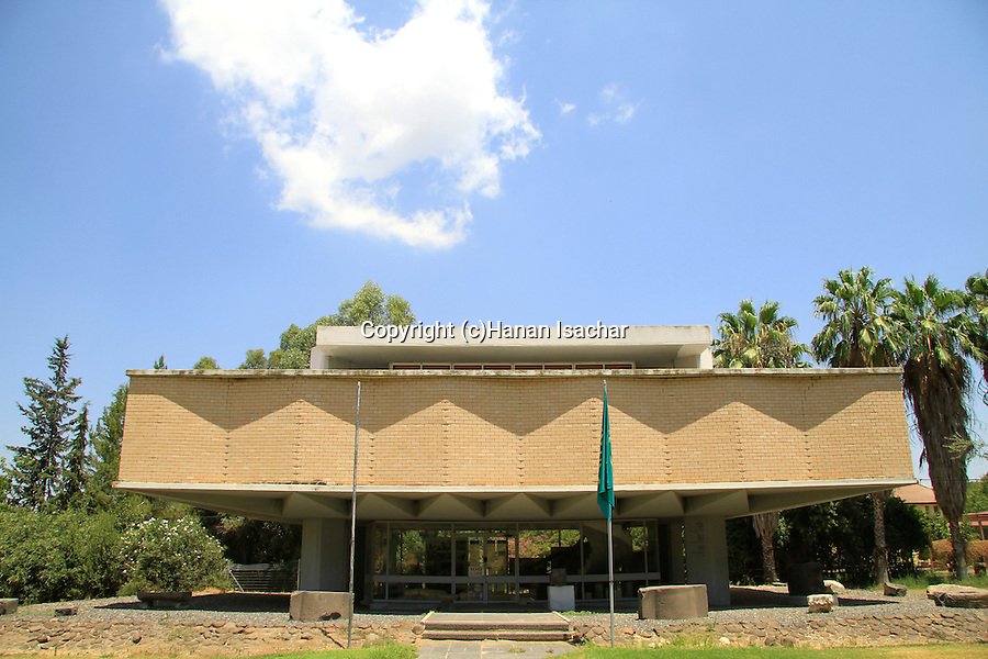 Israel, Upper Galilee, the Archaeological Museum of Hatzor at kibbutz Ayelet Hashachar