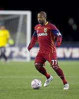 Real Salt Lake midfielder Andy Williams (77) at midfield. Real Salt Lake defeated the New England Revolution, 2-1, at Gillette Stadium on October 2, 2010.
