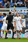 11.05.2019, PreZero Dual Arena, Sinsheim, GER, 1. FBL, TSG 1899 Hoffenheim vs. SV Werder Bremen, <br /> <br /> DFL REGULATIONS PROHIBIT ANY USE OF PHOTOGRAPHS AS IMAGE SEQUENCES AND/OR QUASI-VIDEO.<br /> <br /> im Bild: Gelbe Karte fuer Niklas Moisander (SV Werder Bremen #18) von Schiedsrichter Bastian Dankert<br /> <br /> Foto &copy; nordphoto / Fabisch