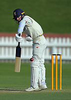 Otago's Camden Hawkins bats one last time before retiring during day two of the Plunket Shield cricket match between the Wellington Firebirds and Otago Volts at the Basin Reserve in Wellington, New Zealand on Tuesday, 22 October 2019. Photo: Dave Lintott / lintottphoto.co.nz
