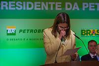 RIO DE JANEIRO, RJ, 13 DE FEVEREIRO DE 2012 - Cerimônia de Posse da nova Presidente da Petrobrás  - A nova Presidente da Petrobras, Graça Foster, se emociona durante o seu discurso na cerimônia de tomada de posse, na sede da Petrobras.<br /> FOTO GLAICON EMRICH - NEWS FRE