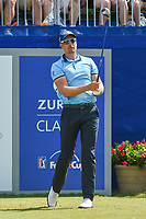Henrik Stenson (SWE) watches his tee shot on 1 during Round 3 of the Zurich Classic of New Orl, TPC Louisiana, Avondale, Louisiana, USA. 4/28/2018.<br /> Picture: Golffile | Ken Murray<br /> <br /> <br /> All photo usage must carry mandatory copyright credit (&copy; Golffile | Ken Murray)