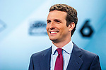 Leader of Partido Popular Pablo Casado during the electoral debate organized by Atresmedia television network on April 22, 2019 in Madrid, Spain.(ALTERPHOTOS/Alconada).