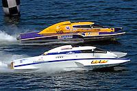 "Eric Langevin, GP-12 and Tom Pakradooni, GP-88, ""Rolling Thunder"" (Grand Prix Hydroplane(s)"