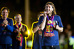 BARCELONA (16/05/2010).- Barcelona players celebrate Spanish League Championship at Camp Nou Stadium. Dmytro Anatoliyovych Chygrynskiy...Photo. Gregorio / ALFAQUI