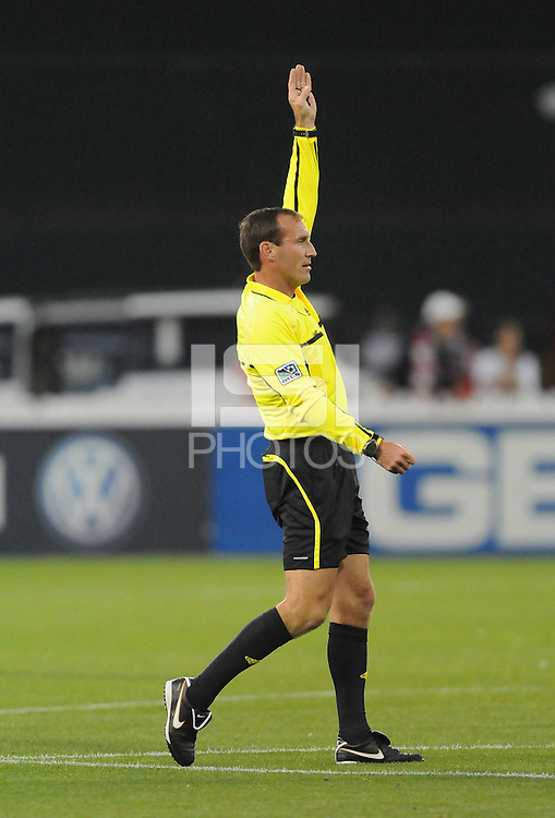 MLS referee Terry Vaughn.    DC United tied The Colorado Rapids 1-1, at RFK Stadium, Saturday  May 14, 2011.