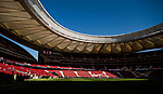 Wanda Metropolitano is seen prior to the La Liga 2017-18 match between Atletico de Madrid and Sevilla FC on 23 September 2017 in Wanda Metropolitano, Madrid, Spain. Photo by Diego Gonzalez / Power Sport Images