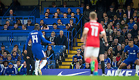 General view of the Press Box during the Carabao Cup (Football League cup) 23rd round match between Chelsea and Nottingham Forest at Stamford Bridge, London, England on 20 September 2017. Photo by Andy Rowland.