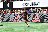 """ATLANTA, GA - MARCH 07: ATLANTA, GA - MARCH 07: Atlanta United midfielder Gonzalo """"Pity"""" Martinez dribbles the ball during the match against FC Cincinnati, which Atlanta won, 2-1, in front of a crowd of 69,301 at Mercedes-Benz Stadium during a game between FC Cincinnati and Atlanta United FC at Mercedes-Benz Stadium on March 07, 2020 in Atlanta, Georgia."""