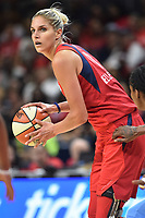 Washington, DC - June 1, 2019: Washington Mystics forward Elena Delle Donne (11) with the ball during game between Atlanta Dream and Washington Mystics at the St. Elizabeths East Entertainment and Sports Arena (Photo by Phil Peters/Media Images International)