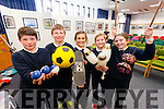 Conor Foley, Rory Reen, Miaya Rivas-McHugh, Clodagh Fitzgibbon and Ruth O'Neill, all from Caherleaheen National School on Friday at the Science Week roadshow at Kerry County Library.