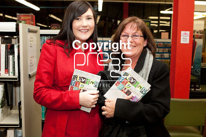 Pictured at the Launch of Flying the Banner Book in the De Valera Library Ennis were, Patricha McGuire & Catriona O'Connor. Pictured Credit Brian Gavin Press 22
