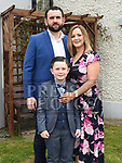 Jack Kelleher from St. Joseph's School who received his first holy communion in St. Joseph's church Mell with parents Emmet and Samantha. Photo:Colin Bell/pressphotos.ie
