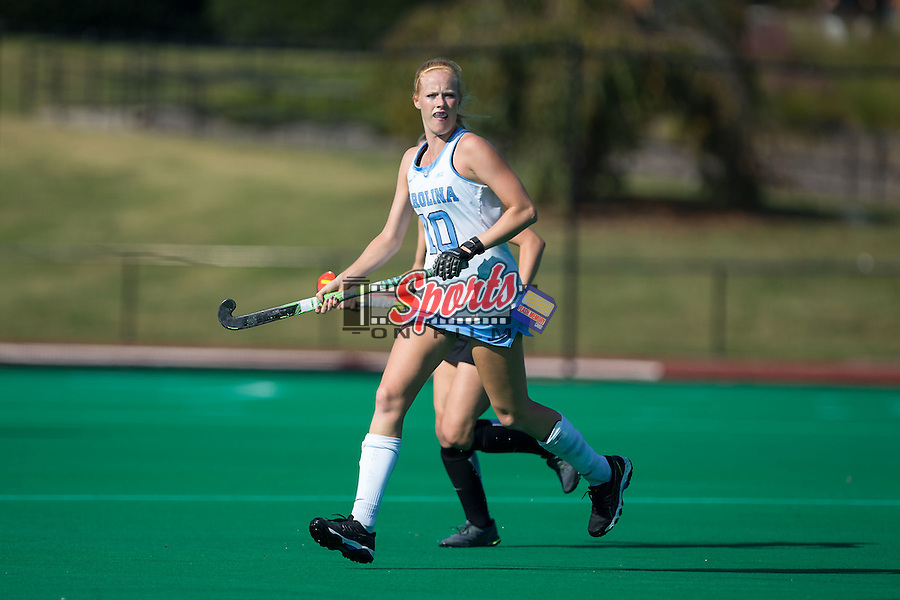 Nina Notman (10) of the North Carolina Tar Heels during first half action against the Wake Forest Demon Deacons at Kentner Stadium on October 23, 2015 in Winston-Salem, North Carolina.  The Demon Deacons defeated the Tar Heels 3-2.  (Brian Westerholt/Sports On Film)