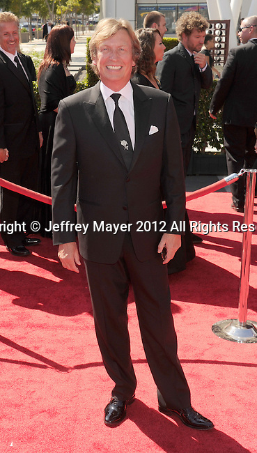 LOS ANGELES, CA - SEPTEMBER 15: Nigel Lythgoe arrives at the 2012 Primetime Creative Arts Emmy Awards at Nokia Theatre L.A. Live on September 15, 2012 in Los Angeles, California.