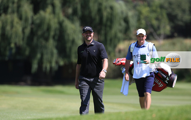 Craig Lee (SCO) enjoying the walk up the 18th  during Round Two of the 2016 BMW SA Open hosted by City of Ekurhuleni, played at the Glendower Golf Club, Gauteng, Johannesburg, South Africa.  08/01/2016. Picture: Golffile | David Lloyd<br /> <br /> All photos usage must carry mandatory copyright credit (&copy; Golffile | David Lloyd)