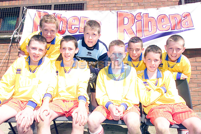 Scoil Aodh Rua and Nuala Donegal Town  athe ribena Final in the MDL Navan, paul fahy, Josh lacey, Conor McMonagle, Stephen Keeney, (back) Hugh McPortlan, James McDaid, Raymond McRoury and Dermot McHugh...Picture Fran Caffrey Newsfile...This Picture is sent to you by:..Newsfile Ltd.The View, Millmount Abbey, Drogheda, Co Louth, Ireland..Tel: +353419871240.Fax: +353419871260.GSM: +353862500958.ISDN: +353419871010.email: pictures@newsfile.ie.www.newsfile.ie