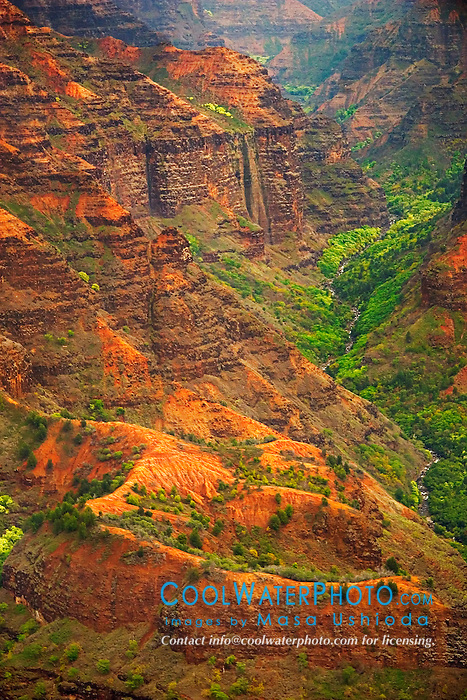 Waimea River and Waimea Canyon, Kauai, Hawaii