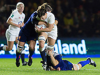 Sarah Hunter in action, England Women v France Women in an Old Mutual Wealth Series, Autumn International match at Twickenham Stoop, Twickenham, England, on 9th November 2016. Full Time score 10-5