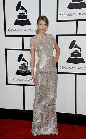 LOS ANGELES, CA - JANUARY 26 : Taylor Swift arrives at The 56th Annual GRAMMY Awards at Staples Center on January 26, 2014 in Los Angeles, California. PGSK / MediaPunch