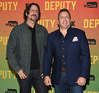 """LOS ANGELES, CA - NOVEMBER 18: David Ayer and Chris Long attend the advanced screening for Fox's """"Deputy"""" at James Blakeley Theater on the Fox Studio Lot on November 18, 2019 in Los Angeles, California. on November 13, 2019 in Los Angeles, California. (Photo by Frank Micelotta/Fox/PictureGroup)"""