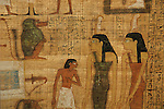 Goddess Maat painted on funerary Papyrus,Tutankhamun and the Golden Age of the Pharaohs, Page 80