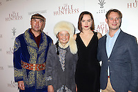 """LOS ANGELES, CA - OCTOBER 18: Nurgaiv Rys, Aisholpan Nurgaiv, Daisy Ridley, Otto Bell at the """"The Eagle Huntress"""" Premiere at the Pacific Theaters at the Grove, Los Angeles, California on October 18, 2016.  Credit: David Edwards/MediaPunch"""