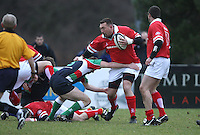 Justin Fitzpatrick in action during the charity match between the Ulster 1999 XV and a Wooden Spoon Select XV at Shaw's Bridge Belfast.  Mandatory Credit - Photo : John Dickson